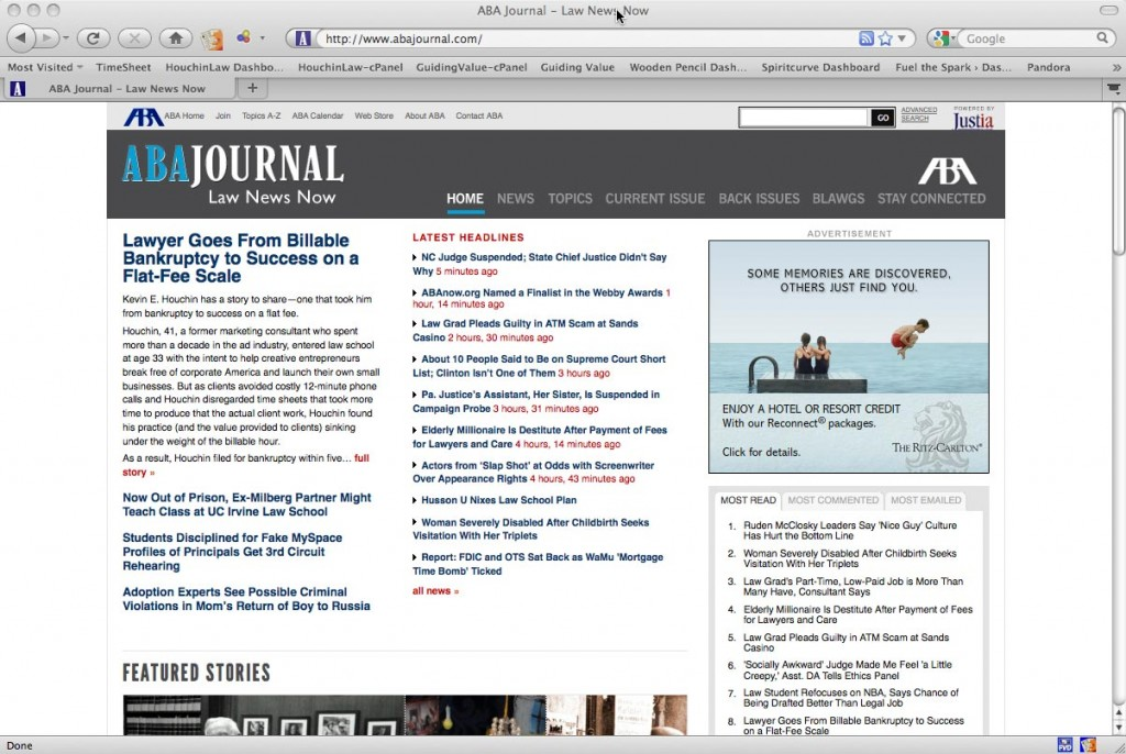 ABA Journal Online Home Page